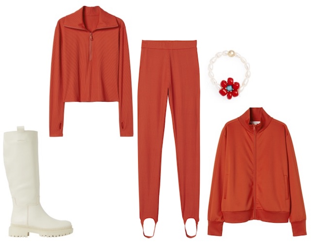 Bold outfit all in red